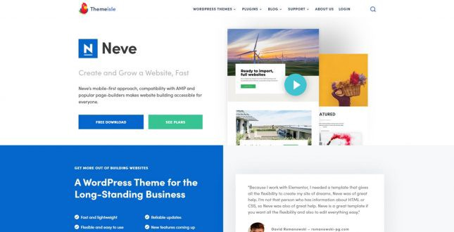 Neve WordPress Theme Review | Best Elementor Themes (By Webnus)