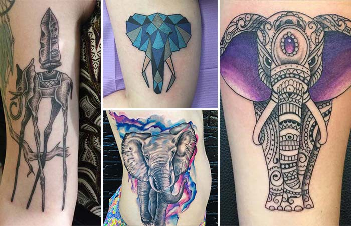 elephant tattoos and models