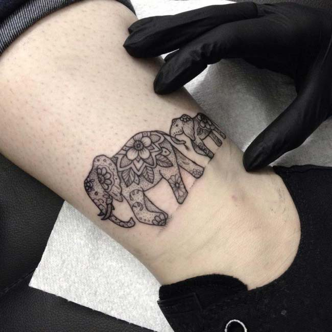 elephant tattoo and meaning
