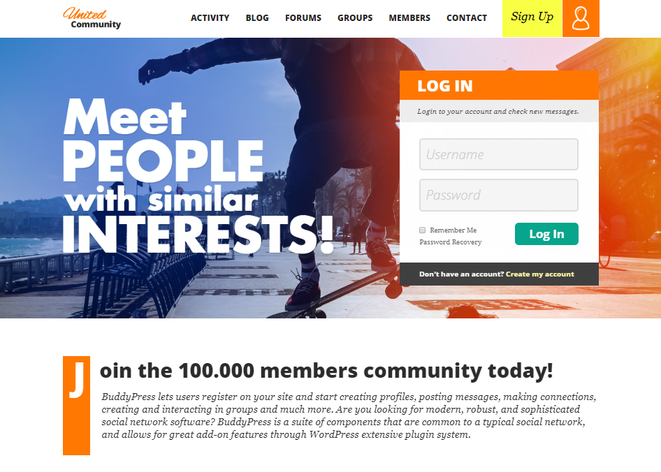UNITEDCOMMUNITY-COMMUNITY FORUM WEB TEMPLATES