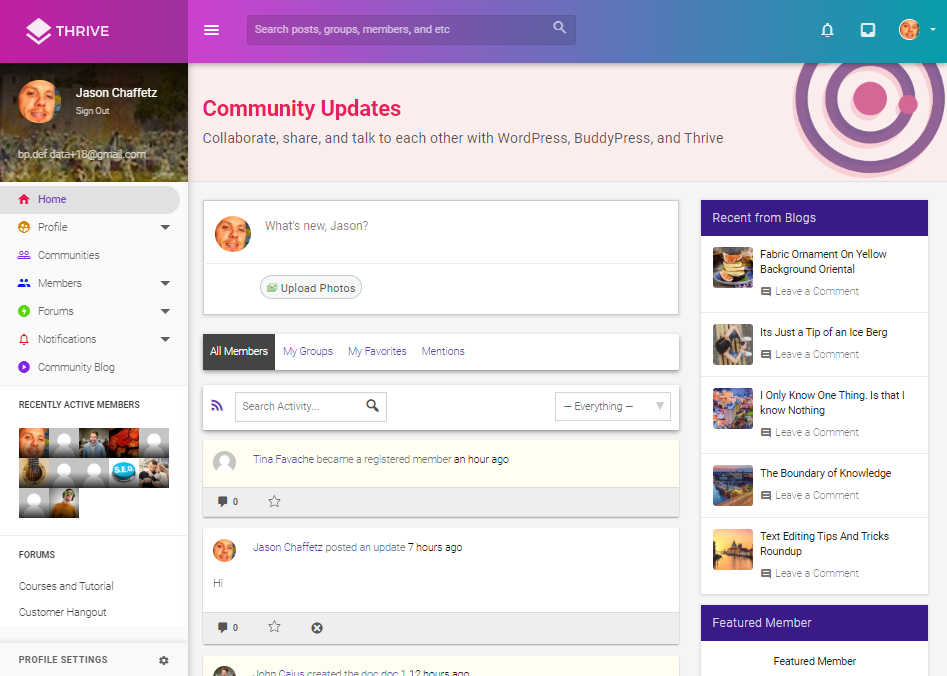 THRIVE-COMMUNITY FORUM WEB TEMPLATES