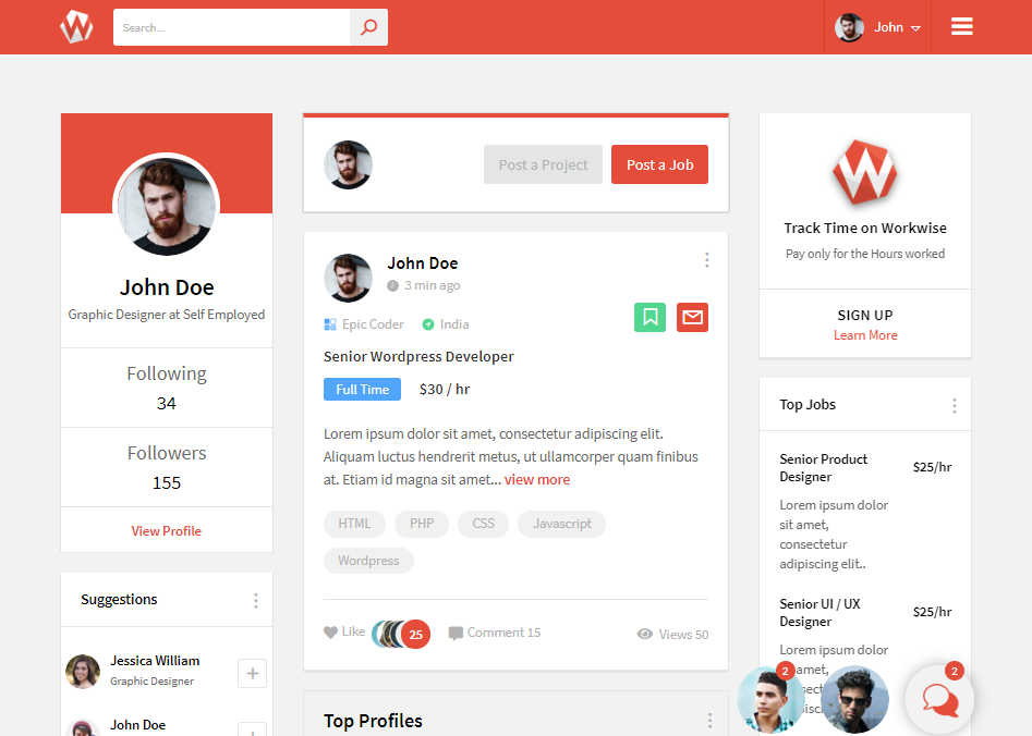WORKWISE-COMMUNITY FORUM WEB TEMPLATES