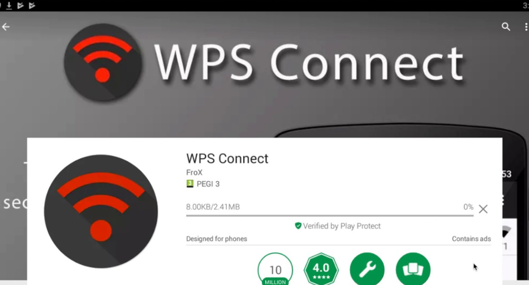 wps connect app for android