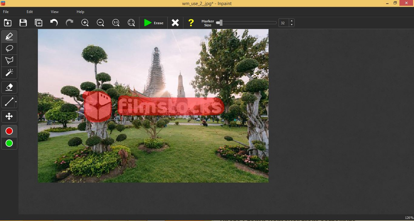 How To Remove Watermark from photo using InPaint Tool