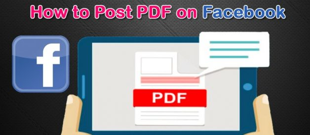 5 Easy Steps To Post a PDF On Facebook