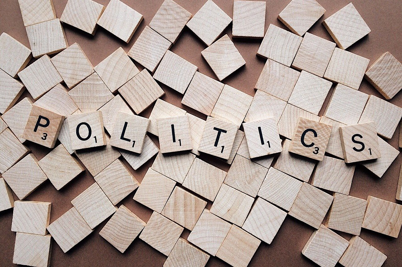 The world politics laid out in letter tiles