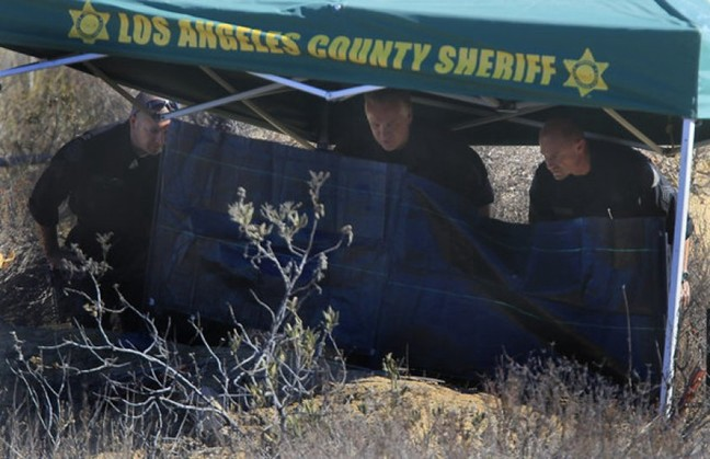 On September 4, 2013, while searching for Bryce Laspisa in the Castaic Lake area, police find a burning body.