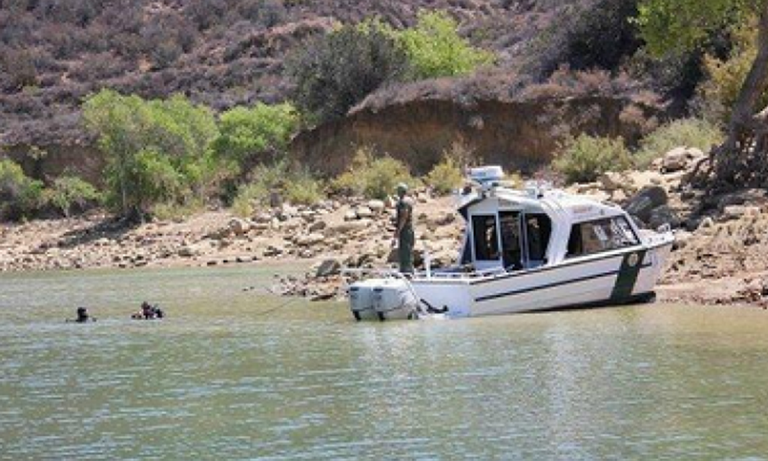Los Angeles County Sheriff?s Department uses divers to search Castaic Lake for Bryce Laspisa who vanished August 30, 2019.