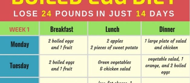 Boiled Egg Diet Lose Up 24 Pounds in Just 14 Days