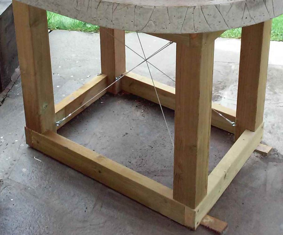 wooden frame for pizza oven