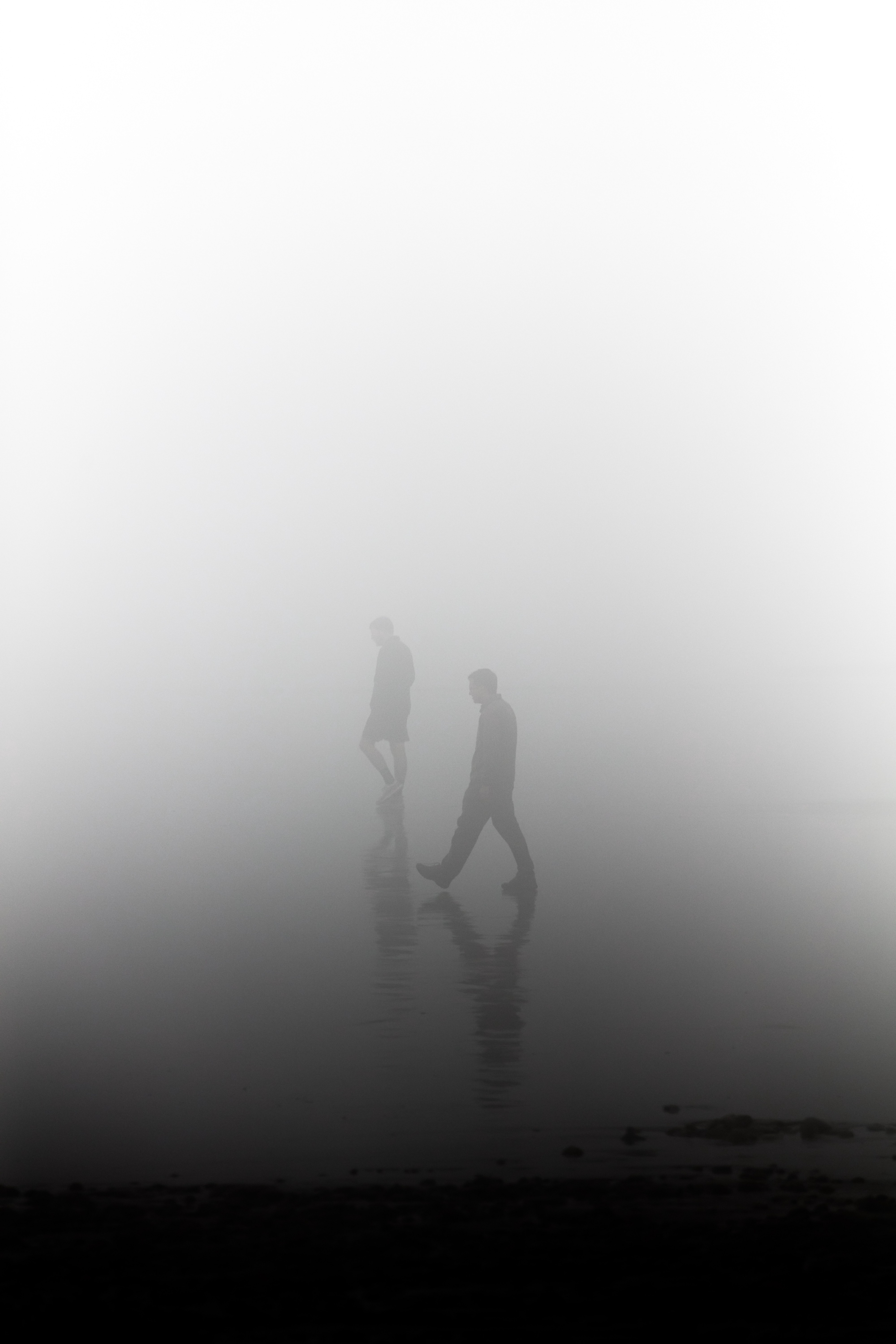 Photo by Patrick Hendry on Unsplash???silhouette of man during foggy day