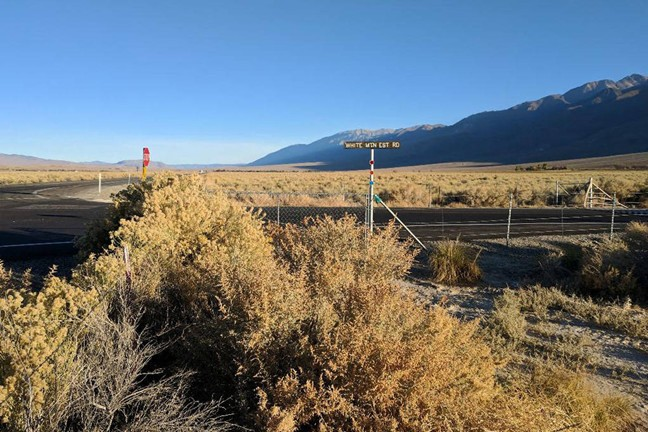 White Mountain Estate Road and Route 6, in Mono County, California, where an eyewitness reported seeing her last.