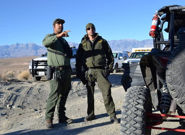 Search parties conduct grid searches of the high desert near Karli Guse?s home in Chalfant Valley, California.