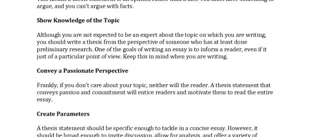 🍦 Good Examples Of Thesis Statements For Research Papers
