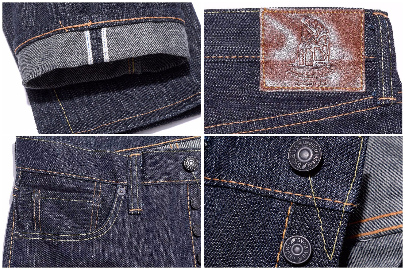 Pure Blue Japan 17oz-011-17oz left hand twill tapered jean details
