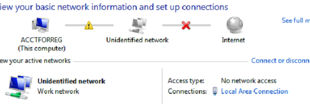 Fix Unidentified Network No Internet Access in Windows 10