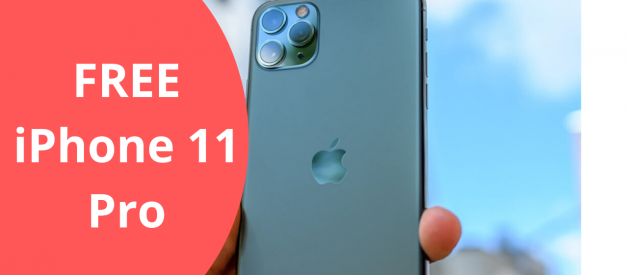 [Free iPhone]~Win A Free iPhone 11 Pro-Official Giveaway 2020 without HUman verification latest