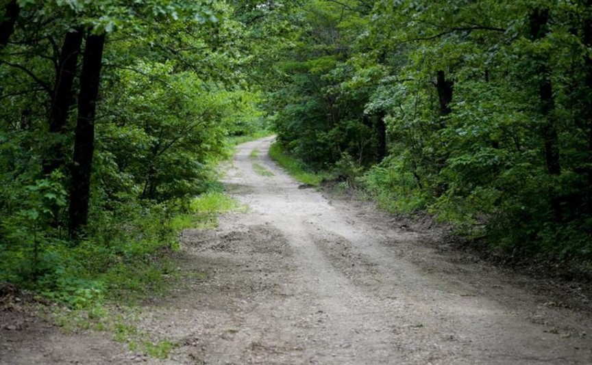 Cookie Trail Road that was traveled by Girl Scout buses to take the girls to camp in 1977. Photo courtesy of Tulsa World.