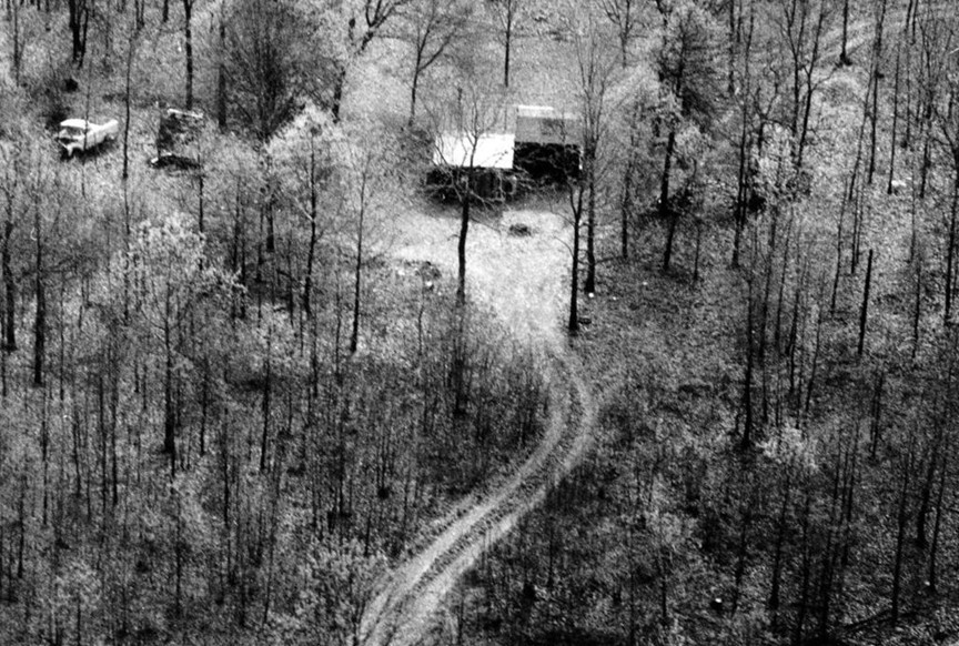 Gene Leroy Hart was arrested by OSBI agents at this property in a remote part of the eastern Cherokee County.