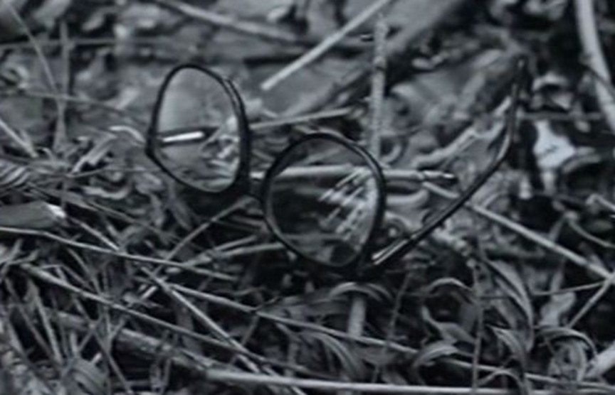 Glasses were found at the cave near the Girl Scout murders and collected as evidence.