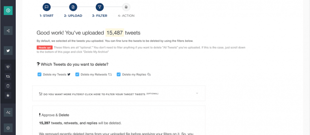 How do I delete all retweets? Bulk delete in a click!