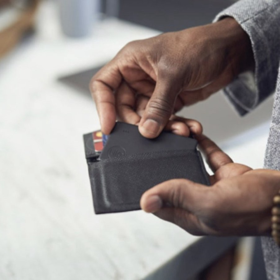 Tile Slim 2020 tracker fits in wallet. Smart wallets with GPS tracking.
