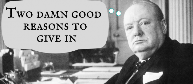 """How popular history distorts Churchill's """"never give up"""" speech"""