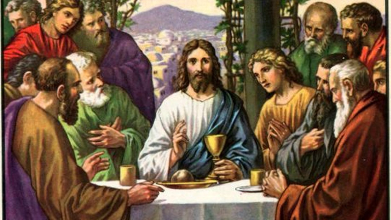 A portrait of Jesus and His disciples at the Last Supper