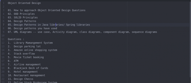 How to approach Object Oriented Design Questions step by step