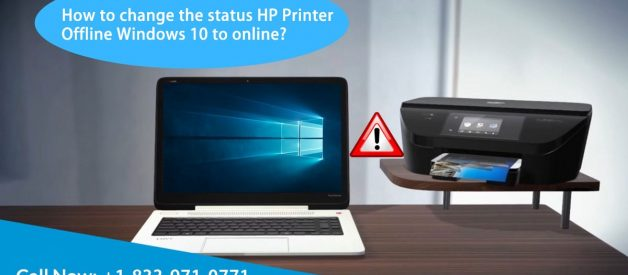 How to change the status HP Printer Offline Windows 10 to online?
