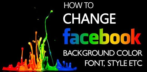 How to Customize Facebook Background Color?
