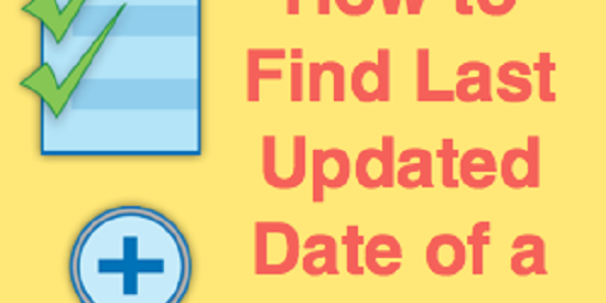 How to Find Last Updated Date of a Web Page