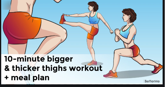 bigger thigh workout challenge, How get thicker thigh at home