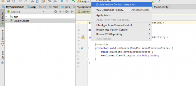 How to link Android Studio with Github