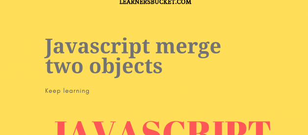 How to merge objects in JavaScript