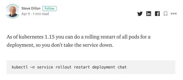How to Restart Kubernetes Pod