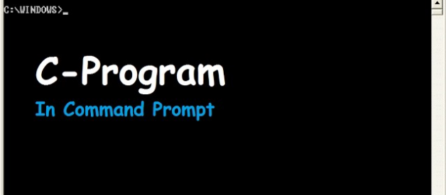 How to Run C-Program in Command Prompt
