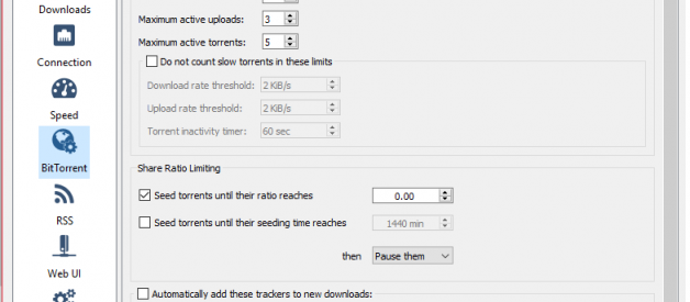 How to stop auto seeding after downloads complete in major torrent software.