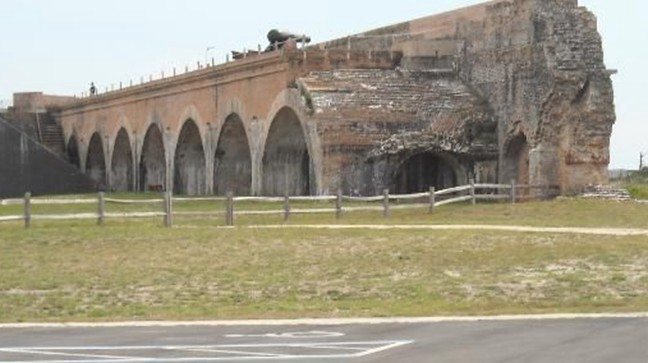 Fort Pickens in Pensacola Florida where Tiffany Daniels vehicle was found abandoned and unlocked.