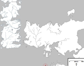 Isle of Naath and West of Westeros. Final tease in 'Game of Thrones'.