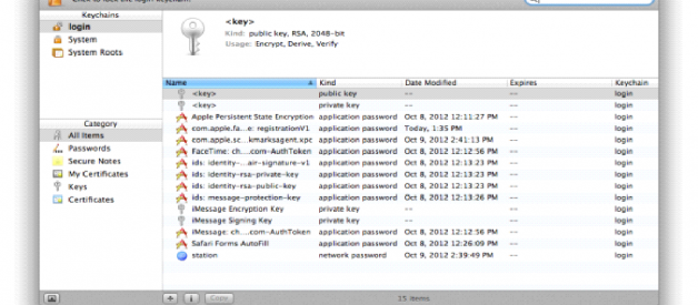 Keychain Access Mac OSx usage, troubleshooting, resetting, sharing