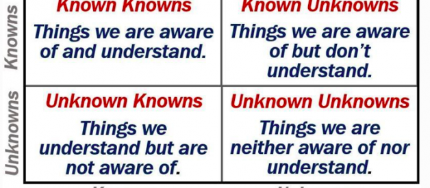 known knowns — obvious context