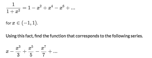 Maclaurin Series of Common functions