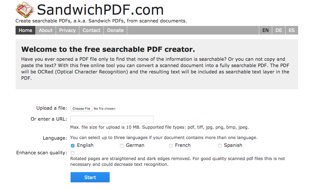 make pdf searchable without acrobat online