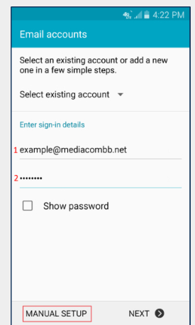 Mediacom Email Settings For Android, Mediacom Email Settings, Mediacom Email Settings Android, Media.com Email Setting