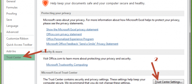 """Microsoft Excel — HOW TO Disable """"Protected View"""" in MS Excel"""
