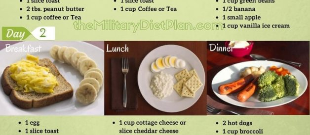 Military Diet To Lose 10 Pounds in 3 Day