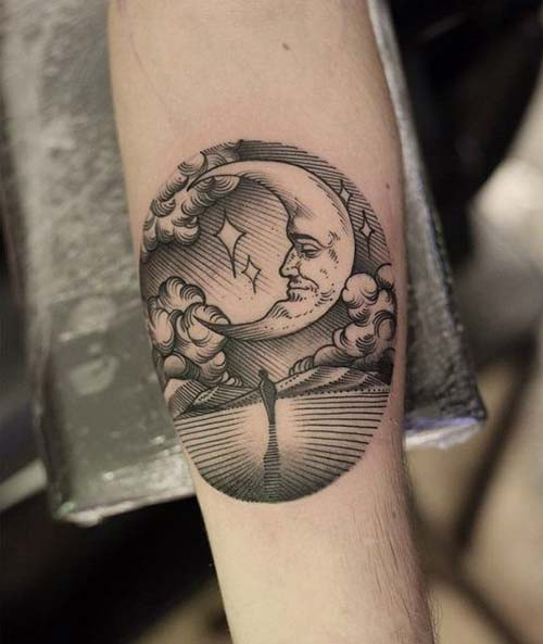 moon tattoos moon tattoos 5