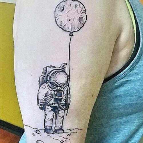 moon and astronaut tattoos moon astronaut tattoos
