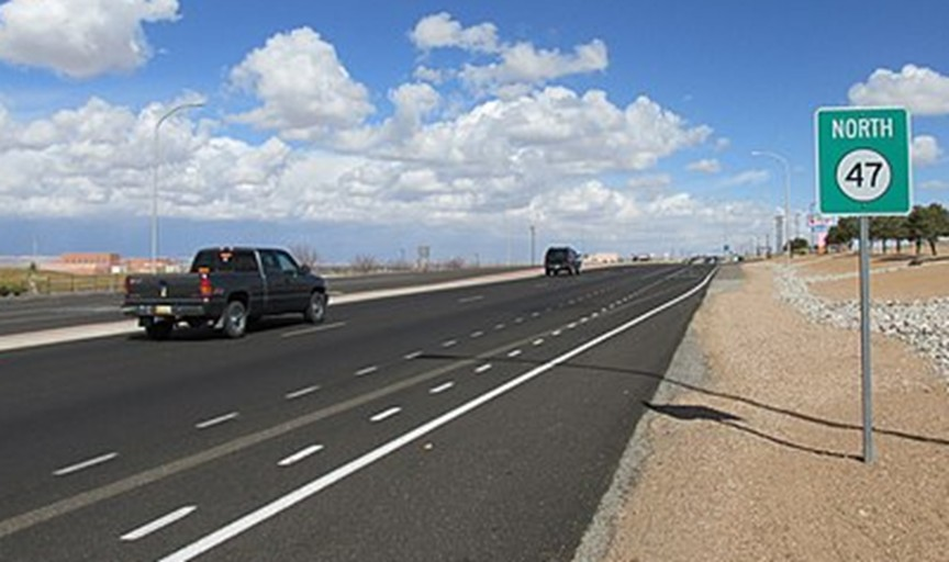 State Road 47, where Tara Calico went for a bike ride in September 1988 and vanished in Belen, New Mexico.